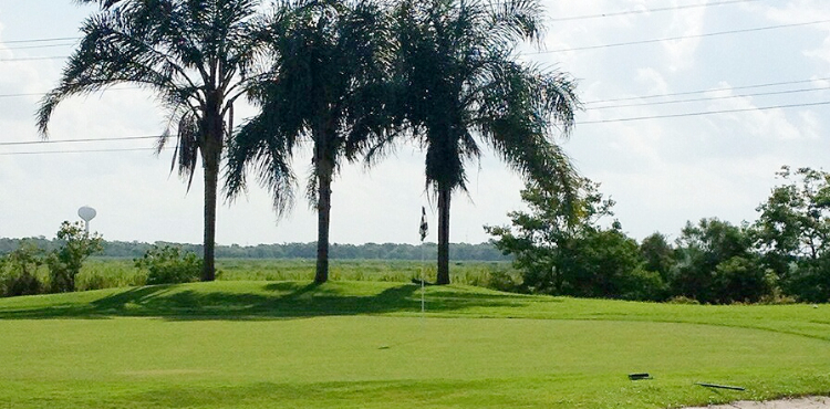 View of a hole on the course at Freeport Golf Course