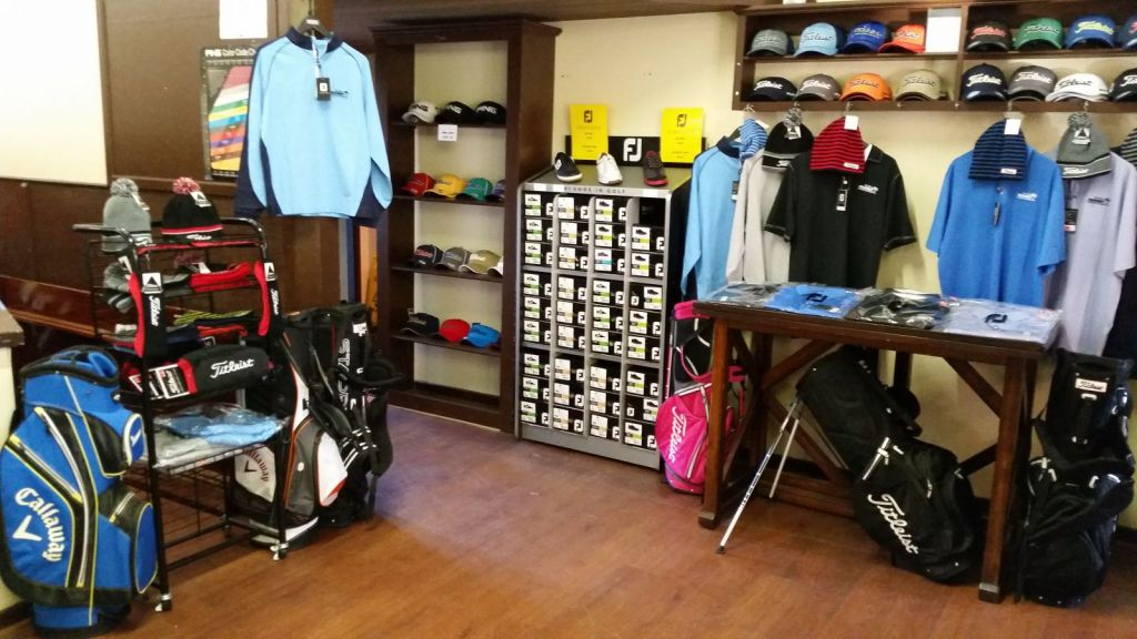 Interior view of the pro shop at Freeport